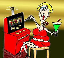 HOT MAMA LUCKY 7'S SLOT MACHINE by jeanne66