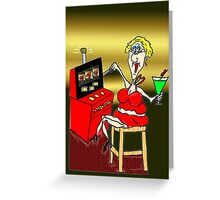 HOT MAMA LUCKY 7'S SLOT MACHINE Greeting Card