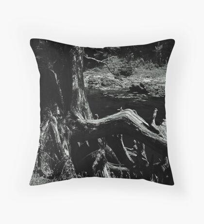 Bent Cypress Tree Throw Pillow
