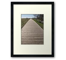 Boardwalk In Cobourg Framed Print