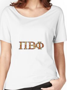 Pi Beta Phi Pizza Women's Relaxed Fit T-Shirt