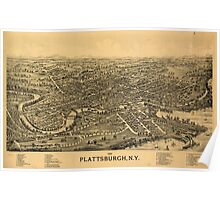 Panoramic Maps 1899 Plattsburgh NY Poster