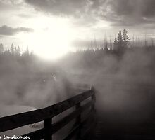 Steamy boardwalk atmosphere by Erika Price