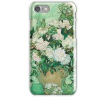 Vase with Pink Roses by Vincent van Gogh iPhone Case/Skin