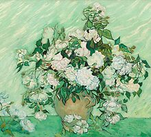 Vase with Pink Roses by Vincent van Gogh by Robert Partridge
