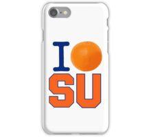 I Heart ( LOVE ) SU - Orangemen iPhone Case/Skin