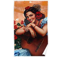 Bullet holes Mexican style Poster