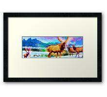 Aurora Aura Herd Framed Print
