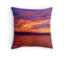 Vibrant evening Throw Pillow