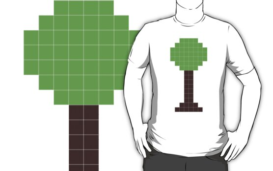 pixel tree by 1453k