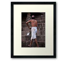 Ganges Bather Framed Print