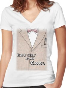 Bowties Are Cool Women's Fitted V-Neck T-Shirt