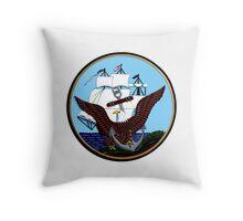 Constitution, Eagle & Anchor Logo of the Navy Throw Pillow
