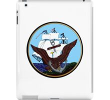 Constitution, Eagle & Anchor Logo of the Navy iPad Case/Skin