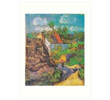 Houses in Auvers by Vincent van Gogh Art Print