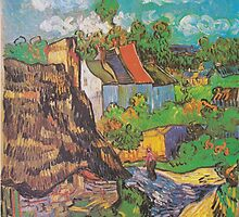Houses in Auvers by Vincent van Gogh by Robert Partridge