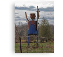 Scarecrow Tin Man Canvas Print