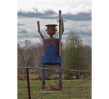 Scarecrow Tin Man Photographic Print