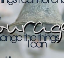 Serenity Prayer with Bells © Vicki Ferrari Sticker