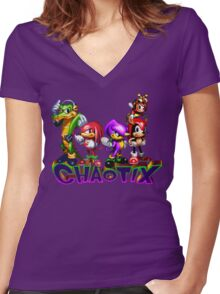 Chaotix Women's Fitted V-Neck T-Shirt