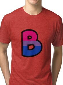 LGBT Alphabet - B (Bisexual) Tri-blend T-Shirt