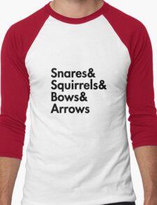 Snares& squirrels& bows& arrows....(BLACK FONT SHIRT) T-Shirt