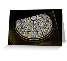 Stained Glass Dome, New Jersey Senate State House Greeting Card