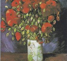 Vase with Red Poppies by Vincent van Gogh by Robert Partridge