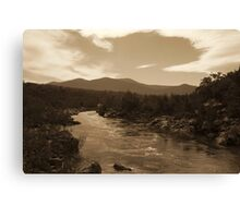 Snowy River NSW - Sepia Toned HDR Canvas Print