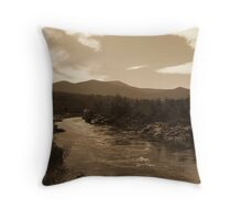 Snowy River NSW - Sepia Toned HDR Throw Pillow