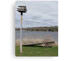 Bird House & Wagon Canvas Print