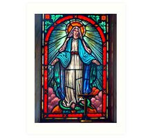 Stained Glass Window - the Assumption of Mary Art Print