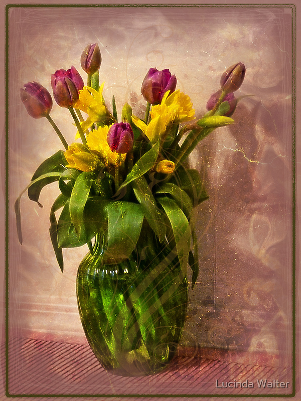 Flowers in Vase by Lucinda Walter