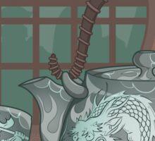 Japanese Dragon, Hot Tea Sticker