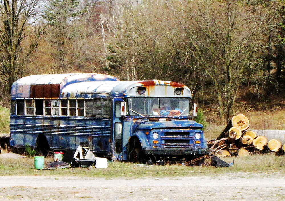 Abandoned Bus by nikspix