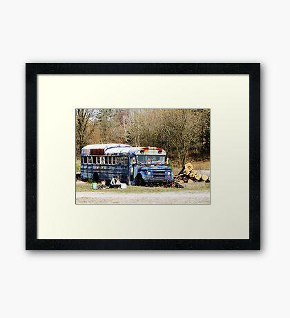 Abandoned Bus Framed Print