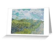 Field with Green Wheat by Vincent van Gogh Greeting Card