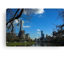 Melbourne from the river Canvas Print