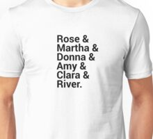 Doctor Who Companions Character Names Unisex T-Shirt