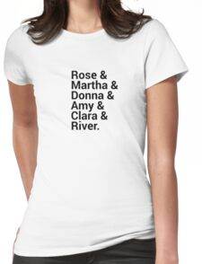 Doctor Who Companions Character Names Womens Fitted T-Shirt