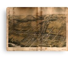 Panoramic Maps Cobleskill NY 1883 Canvas Print