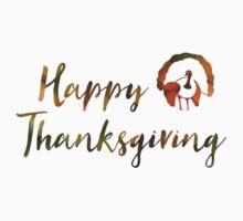 Happy Thanksgiving (bokeh lights) One Piece - Short Sleeve