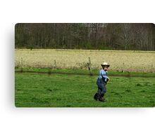 Little Amish Boy Canvas Print
