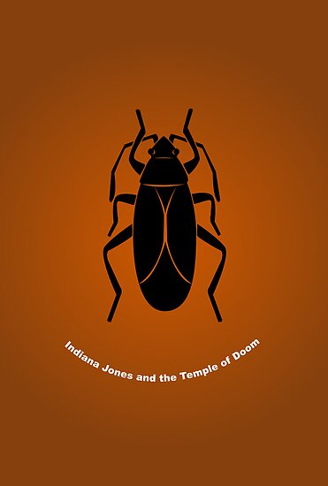 """Temple of Doom"" Minimalist Poster by Rechenmacher"