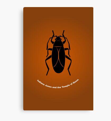 """Temple of Doom"" Minimalist Poster Canvas Print"