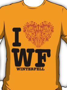 """I Love WF """"winterfell"""" T-Shirt"""