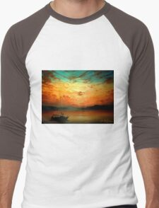Sunset Sailing... Men's Baseball ¾ T-Shirt