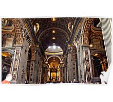 Inside St. Peter's Basilica #1 Poster