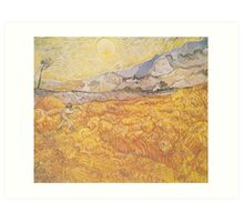 Wheat Field Behind Saint-Paul Hospital with a Reaper by Vincent van Gogh Art Print