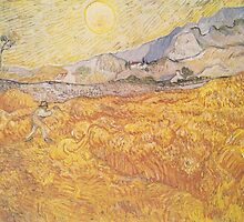 Wheat Field Behind Saint-Paul Hospital with a Reaper by Vincent van Gogh by Robert Partridge